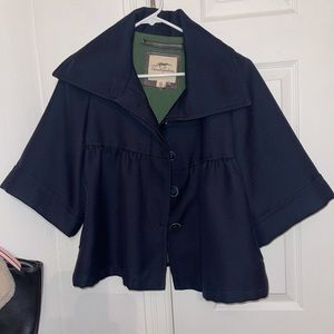 Burberry navy blue poncho button up size small
